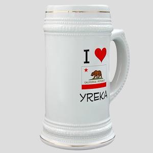I Love Yreka California Stein