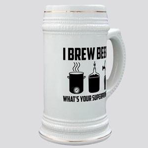 I Brew Beer. What's Your Superpower? Stein