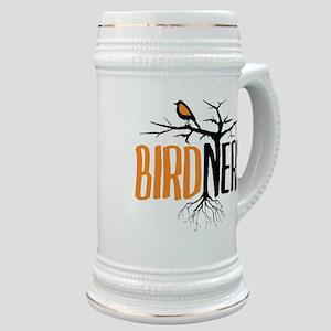 Bird Nerd (Black and Orange) Stein