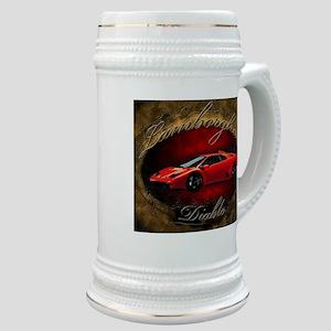 Red Lamborghini Diablo Stein