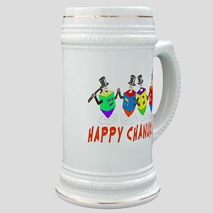 Happy Hanukkah Dancing Dreidels Stein