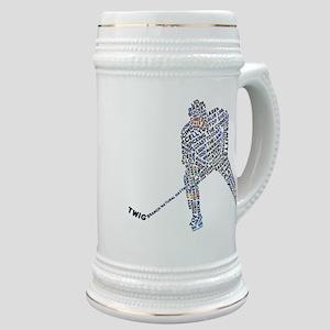 Hockey Player Typography Stein