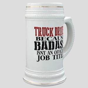Badass Trucker Stein