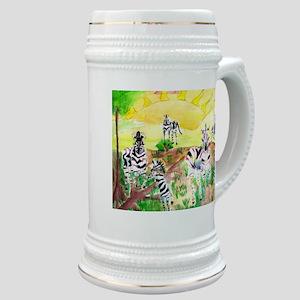 Zebras Day on the GrassLand Stein