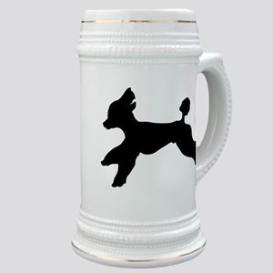 Standard Poodle Running Stein