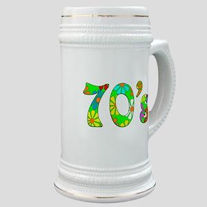 70's Flowers Stein