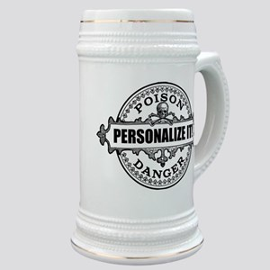 PERSONALIZED Poison Label Stein