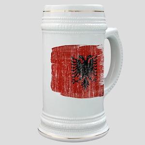 Albania Flag Stein