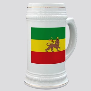 Ethiopia Flag Lion of Judah Rasta Reggae Stein