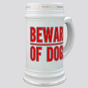 Beware of Dogs(White) Stein