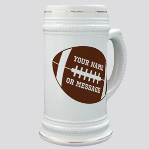 YOUR NAME Football Stein