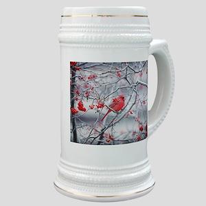 Red Bird & Berries Stein