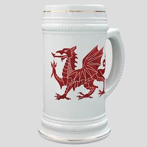 Welsh Red Dragon Stein