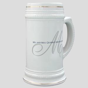 Elegant Name and Monogram Stein