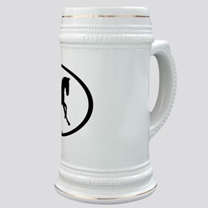 Canter Horse Oval Stein