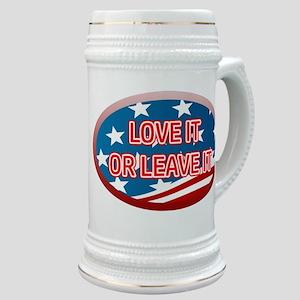 LOVE IT OR LEAVE IT! AMERICAN FLAG Stein