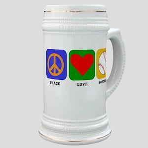 Peace Love Softball Stein