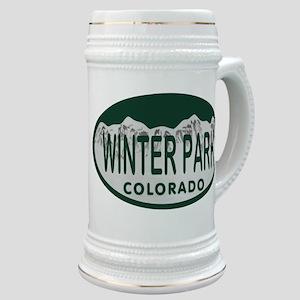 Winterpark Colo License Plate Stein