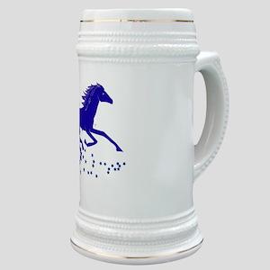 Blue Stars Pony Stein