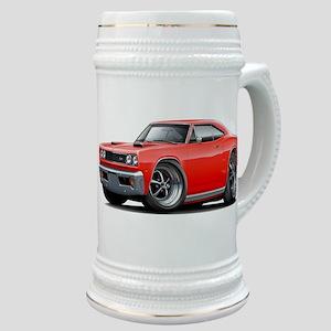 1969 Super Bee Red-Black Car Stein
