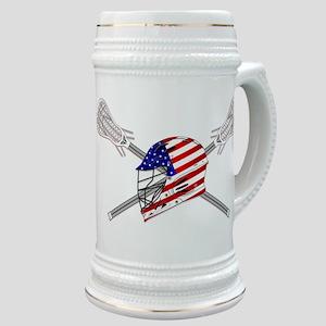 American Flag Lacrosse Helmet Stein