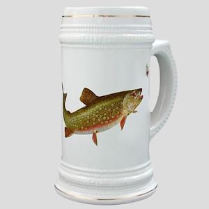 Vintage trout fishing illustration Stein