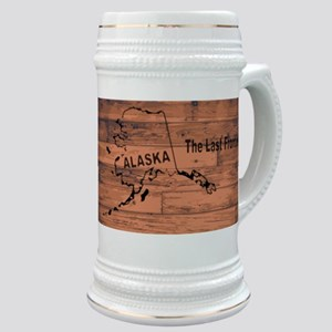Alaska Map Brand Stein