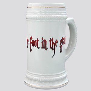 One foot in the grave Stein