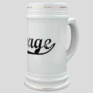 Vintage Savage (Black) Stein