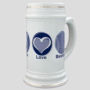 Peace Love Baseball Stein