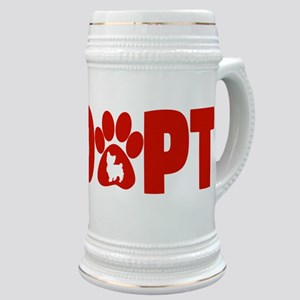 Cute Pets Paw Cat Dog Adopt Red Stein