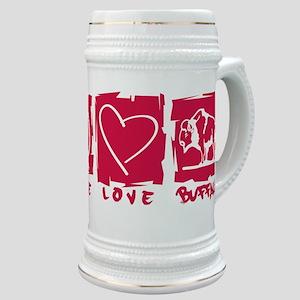 Peace.Love.Buffalo Stein