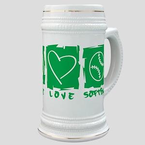 Peace.Love.Softball Stein