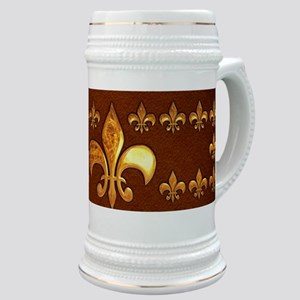 Old Leather with gold Fleur-de-Lys Stein