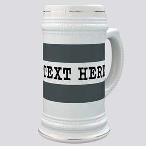 Personalized Gray Striped Stein