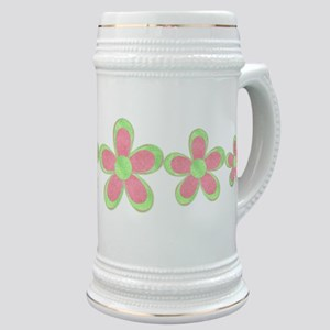 Pink and Green Flowers Stein