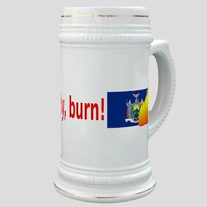 New York State Flag Burn (wide) Stein
