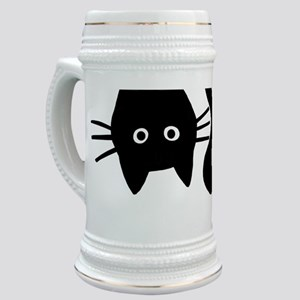 Black Cat Upside Down Stein