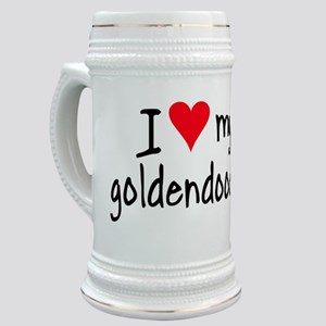 I LOVE MY Goldendoodle Stein