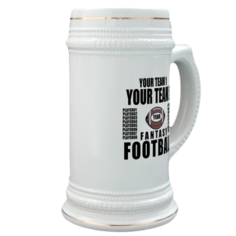 YOUR TEAM FANTASY FOOTBALL PERSONALIZED Stein