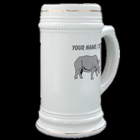 Custom Grey Rhino Stein