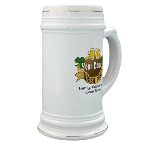 Personalized Name Irish Pub Stein