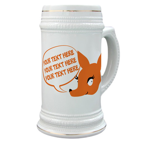 CUSTOM TEXT Cute Fox Stein