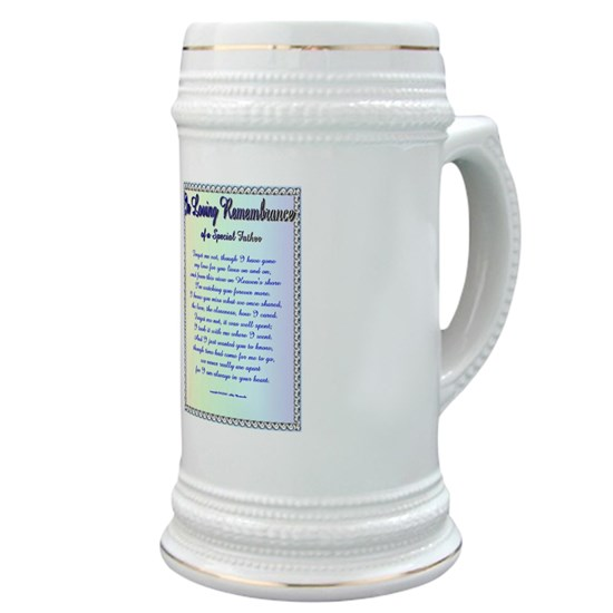 Forget Me Not Stein with Memorial Poem for Dads