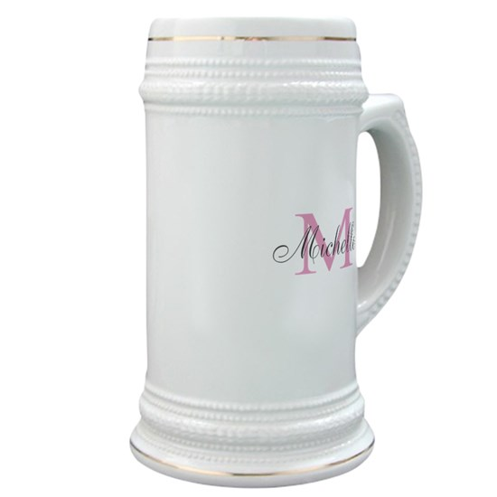 Personalized pink monogram