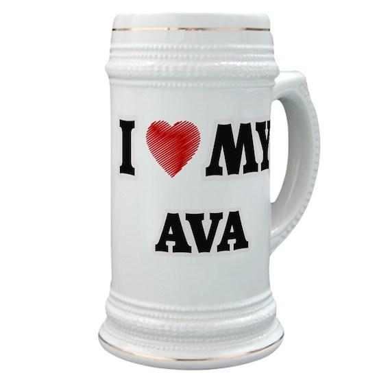 3c8bb310a13b I love my Ava Stein by Tshirts-Plus - CafePress