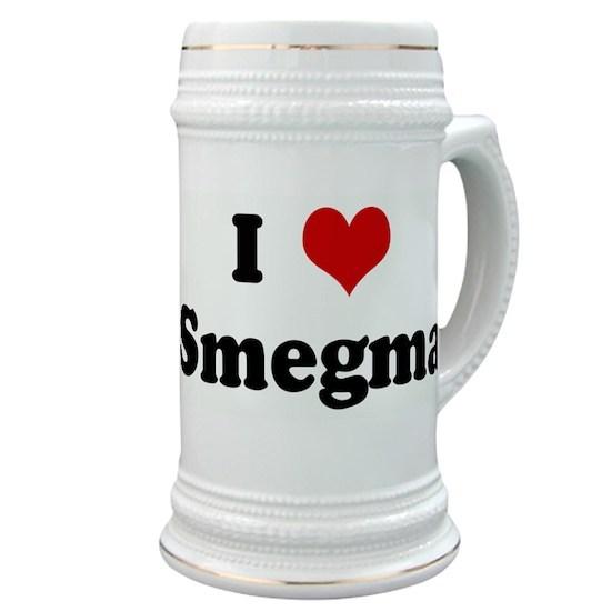f614006feeec I Love Smegma Stein by Custom - CafePress