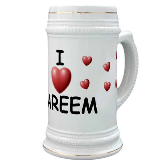 6c69f1bb3c33 I Love Kareem - Stein by Lots of Names Online Store - CafePress