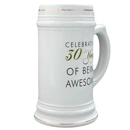 Celebrating 30 Years Drinking Glass