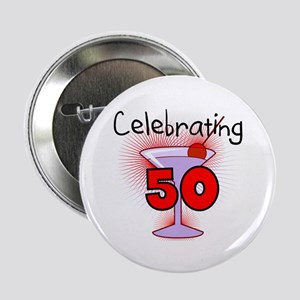 "Cocktail Celebrating 50 2.25"" Button (10 pack)"
